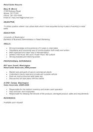 Resume Samples For Retail Store Jobs And Resume Objectives Retail Gorgeous Retail Store Resume
