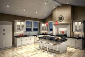 vaulted kitchen ceiling lighting. Kitchen Cathedral Ceiling Ideas Recessed Lighting Sloped Trim Marvelous Vaulted .