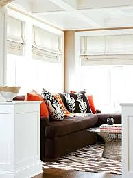 rugs for brown couches brown orange sofa rug for dark brown leather couch