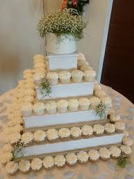 Cupcake Tower With Fresh Flowers Cakes By Crystal