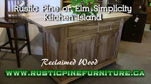 Mennonite Bedroom Furniture Rustic Pine Simplicity Kitchen Island From Reclaimed Pine