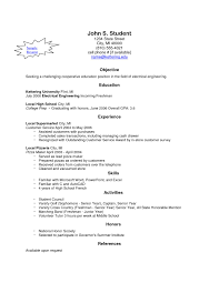 Resume Creator For High School Students New Free Resume Builder