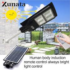 Outdoor Wall Light Timer Us 64 5 30 Off 70w 150w Led Wall Lamp Ip65 Waterproof Outdoor Solar Street Light Wall Timer Lamp Radar Sensing Remote Control Light With Pole In