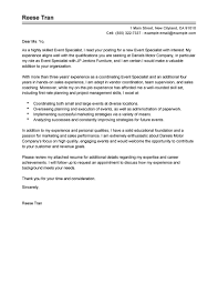 best event specialist cover letter examples livecareer edit