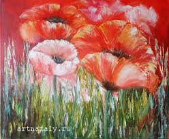 poppies printable painting canvas