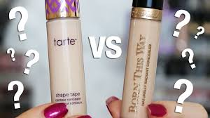 too faced concealer before and after. concealer wear test | tarte shape tape vs too faced born this way - youtube before and after