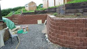 curved walls tiered garden retaining