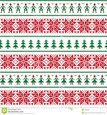 christmas sweater print background. Christmas Nordic Seamless Pattern With Men And Women On Sweater Print Background