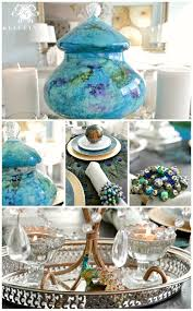 Peacock Inspired Home Decor Peacock Inspired Dining Room And Tablescape Kelley Nan