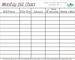Monthly Planner Free Download Monthly Bill Organizer Spreadsheet Printable Finance Planner