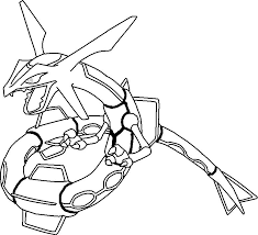 Legendary Pokemon Coloring Pages Rayquaza Part 2 Free Resource