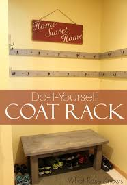 Do It Yourself Coat Rack DIY Coat Rack for Open Space or Closets What Rose Knows 11