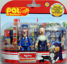 TCW-00161 - GIOCATTOLI - the cartoon world - Set 2 mini figure Il postino  Pat - Postman Pat - Pat e Ben