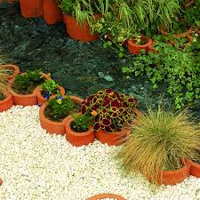 garden products. nenuphar clay planters garden products