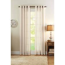 better homes and gardens semi sheer grommet curtain panel bleached linen com