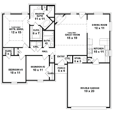 unique 3 bedroom 2 bath 1 story house plans or 1 story 3 bedroom house plans