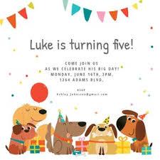 Dog Birthday Invitation Template Free Greetings Island