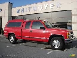 1997 Victory Red Chevrolet C/K K1500 Silverado Extended Cab 4x4 ...