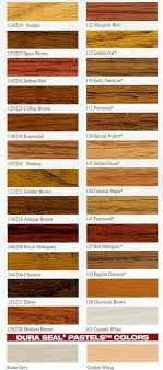 Duraseal Stain Chart Best Of Wood Stain Color Chart