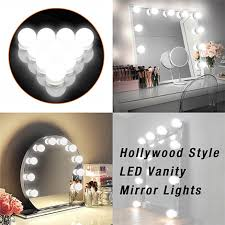 Diy Hollywood Light Cover Us 29 62 Diy Hollywood Style Makeup Mirror Led Light With Touch Dimmer Power Supply Led Bulb Chain Vanity Mirror Lamp For Dressing Table In Vanity