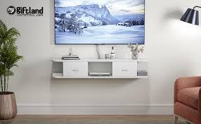 floating tv shelf wall mounted media tv