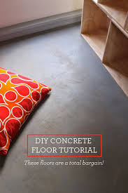 diy cement floor