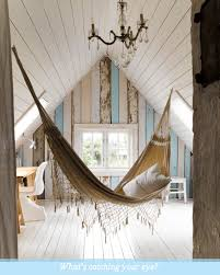 ideas inspiration comely white wooden sloped ceiling with hammock excerpt rustic bedroom pinterest diy home chic attractive home office
