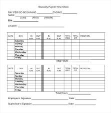Payroll Sheet Samples Timesheet Spreadsheet Template Employee Payroll Templates