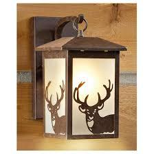 castlecreek rustic outdoor wall lantern deer