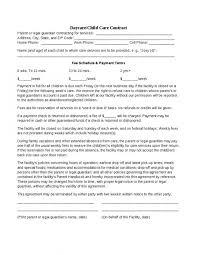 Daycare Contract Template Daycare Contract Template Shatterlion Info