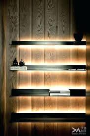 wall shelf with light floating recessed lighting shelves lights mesmerizing lightweight d45
