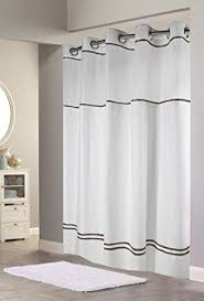 white and black shower curtain. Hookless RBH40MY040 Monterey Shower Curtain - White/Black White And Black