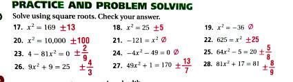 3 let s take a minute 4 lesson 9 7 solving quadratic equations by completing