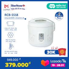 Nồi Cơm Điện BlueStone 1.8 lít RCB-5518 - Công suất 900W - Bảo hành 24  tháng - Cho gia đình 4-6 người - Hàng chính hãng