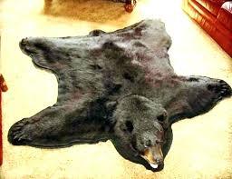faux polar bear rug fake bear rug faux large faux bear skin rug