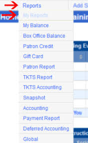 My Report My Reports Financial Reporting In Ovationtix Ovationtix