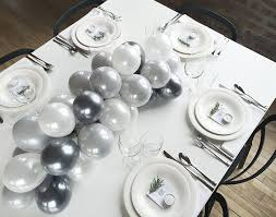 diy balloon centerpiece by grace bonney table overall 2