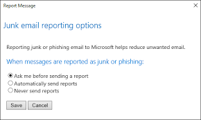 Microsoft Office Reports Use The Report Message Add In Outlook