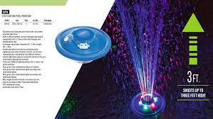 Floating Pool Fountain With Lights 58493 Bestway 3 Color 3 Mode Led Float Pool Fountain Light Show Waterproof Pool Lamp Li Battery Light Range Dia 2 43m Ht 1 52m
