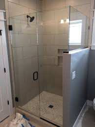 projects idea half wall shower enclosure fearsome image design doors enclosures glass frameless with