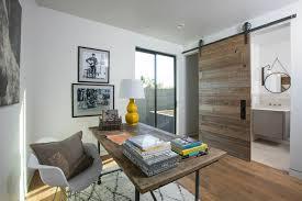 framed office wall art. sliding barn door home office contemporary with recessed lighting framed wall art