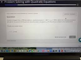 problem solving with quadratic equations solve an problem modeled by a quadratic equation question a