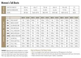 Ariat Competition Boot Sizing Chart
