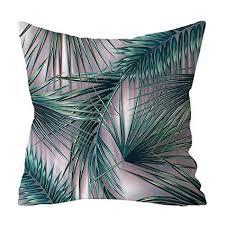 Watopi <b>Vintage</b> Tropical Plants Cushion Cover, <b>Green</b> White <b>Cactus</b> ...