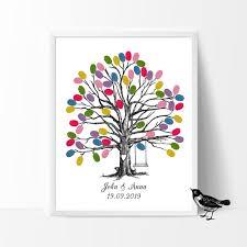 Guest Sign Book Swing In Wedding Tree Free Custom Name Date Fingerprint Guest Book