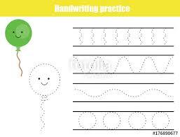 Penmanship Practice Sheet Handwriting Practice Sheet Educational Children Game