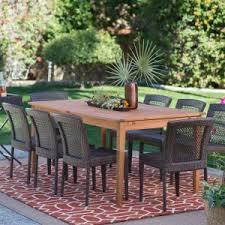 patio dining: belham living brisbane outdoor wood extension patio dining set