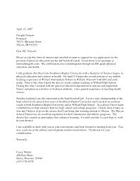 Bunch Ideas Of Cover Letter For Physical Education Teacher With