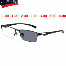 New Sun Photochromic Myopia Eyeglasses Optical Men student ...