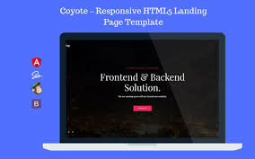 Coyote Responsive Html5 Landing Page Coming Soon Template Landing Page Template